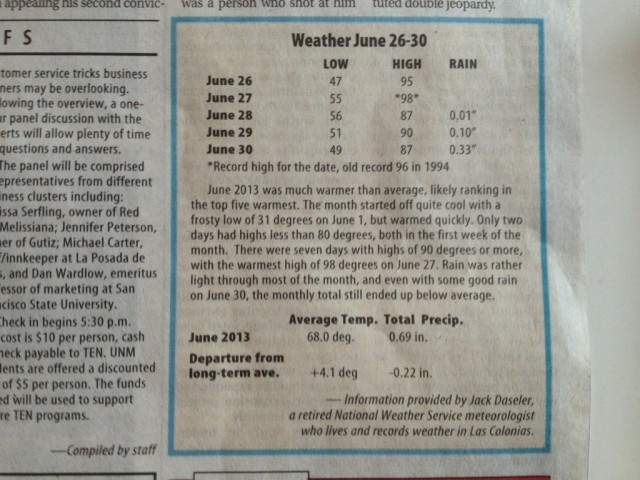 From the Taos News, July 3, 2013